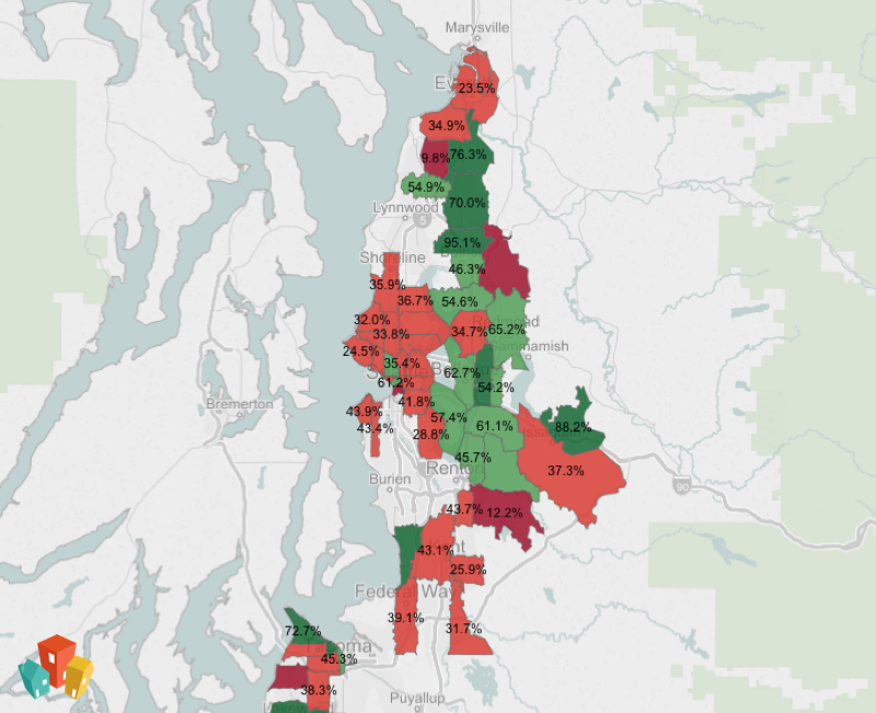 Map of pet friendly neighborhoods in Seattle